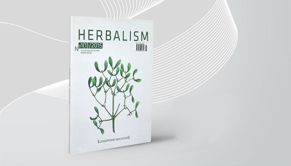 Herbalism magazine cover on a gray background